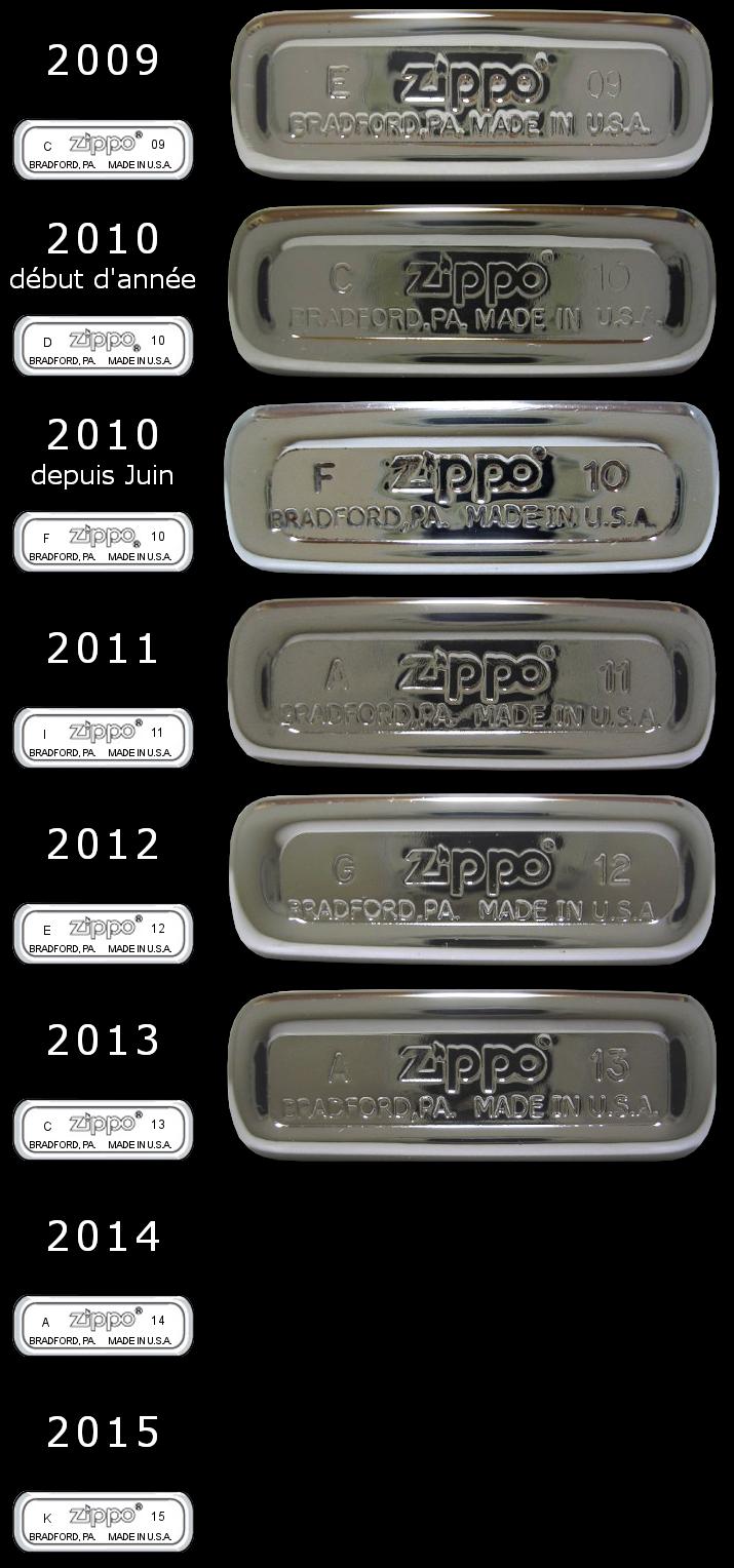 Datation - [Datation] Les Zippo Slim 2009-2015-525caba