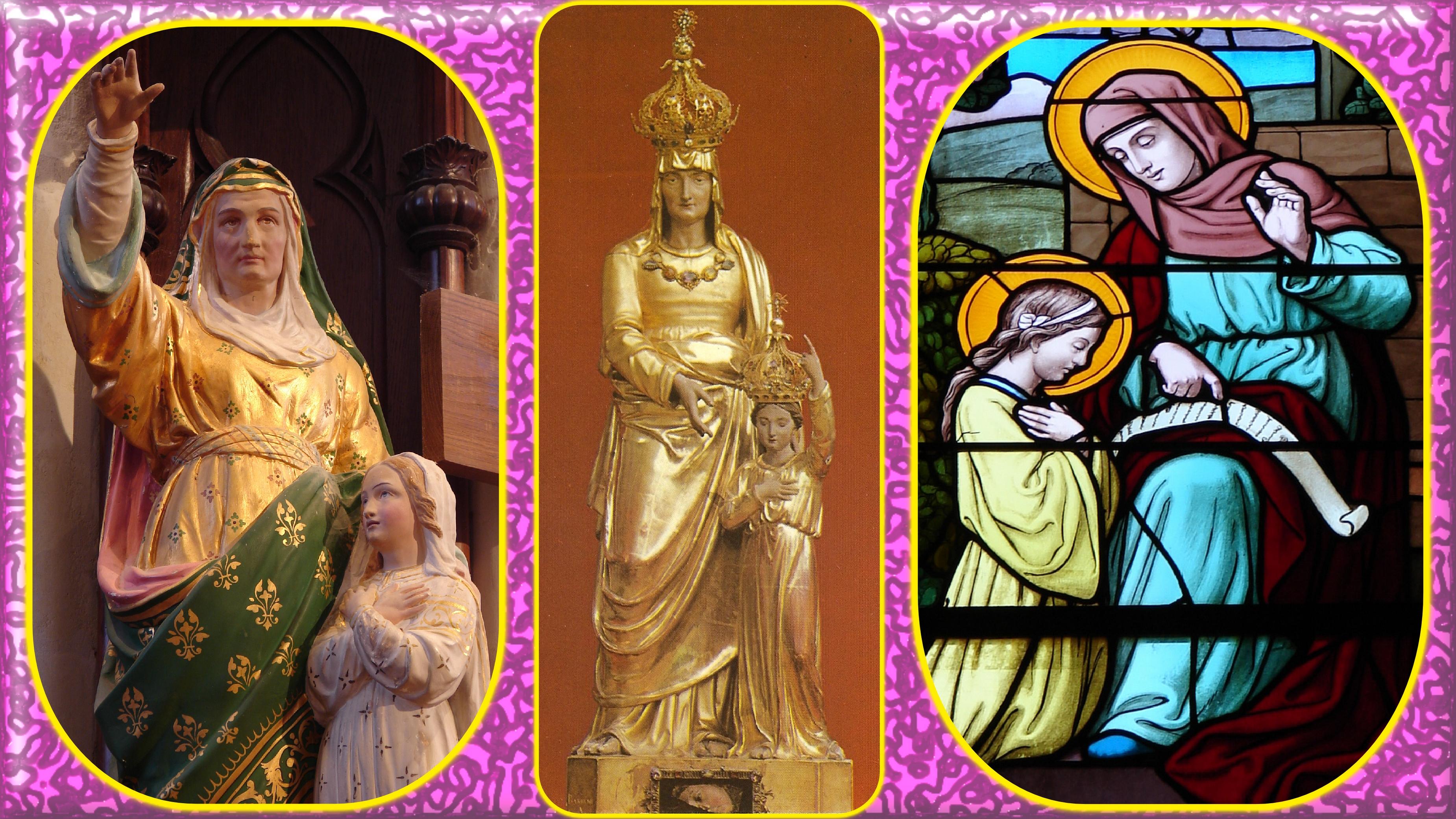 CALENDRIER CATHOLIQUE 2019 (Cantiques, Prières & Images) - Page 4 Ste-anne-5668bab