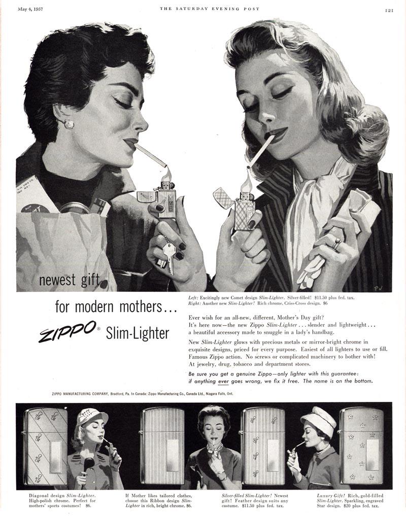 Datation - [Datation] Les Zippo Slim Pub-zippo-slim-1957-525ca83