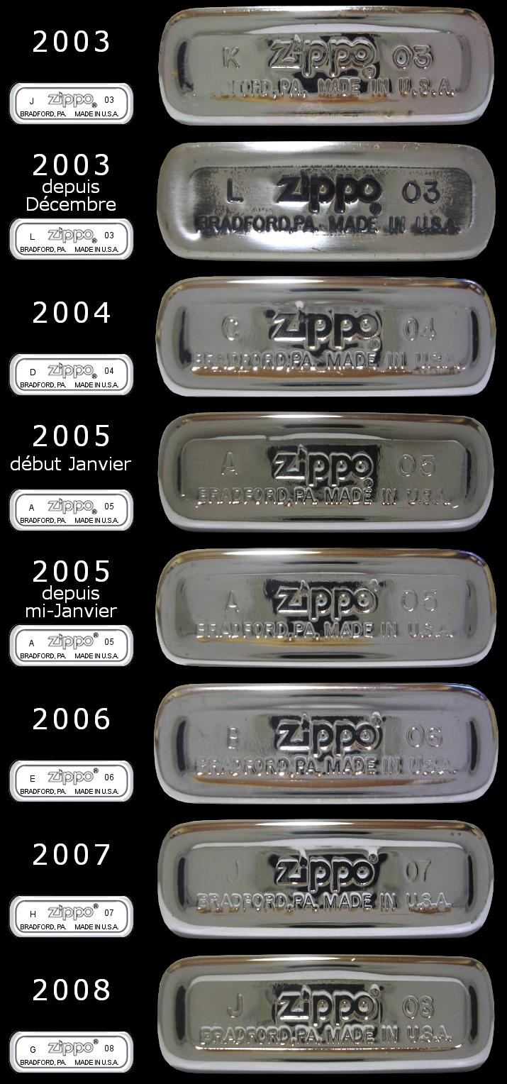 Datation - [Datation] Les Zippo Slim 2003-2008-525cab8