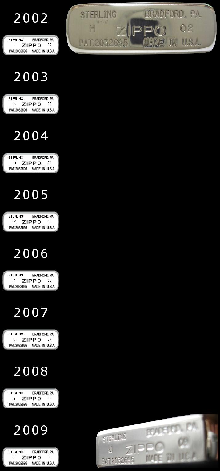 Datation - [Datation] Les Zippo Sterling Silver 2002-2009-523e2de