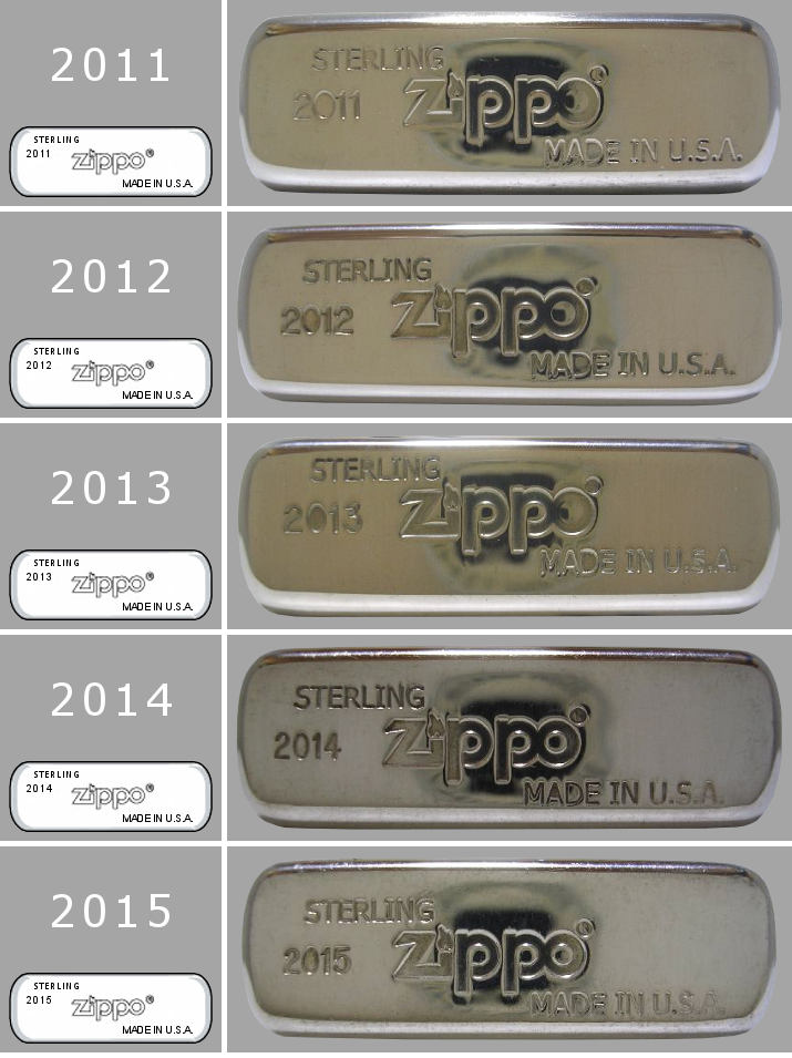 Datation - [Datation] Les Zippo Sterling Silver Bottom-2011-2015-523c184
