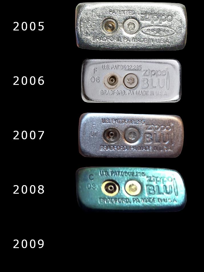 Datation - [Datation] Les Zippo BLU (briquets à gaz butane)  2005-2009-5267c58