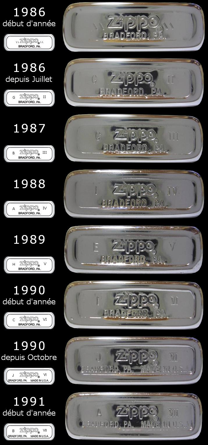 Datation - [Datation] Les Zippo Slim 1986-1991-525cab2
