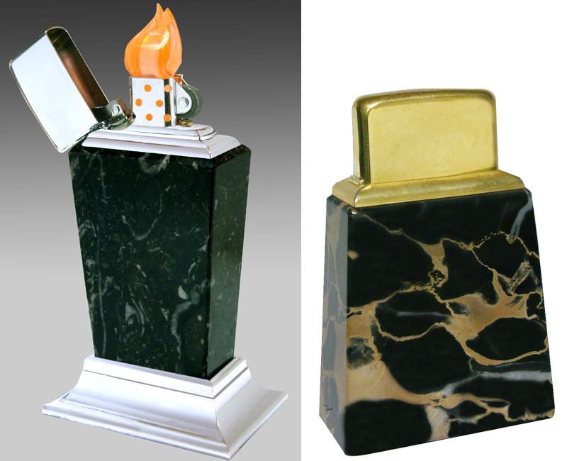 Datation - [Datation] Les Zippo Table Lighter Roseart-marbre-5269391
