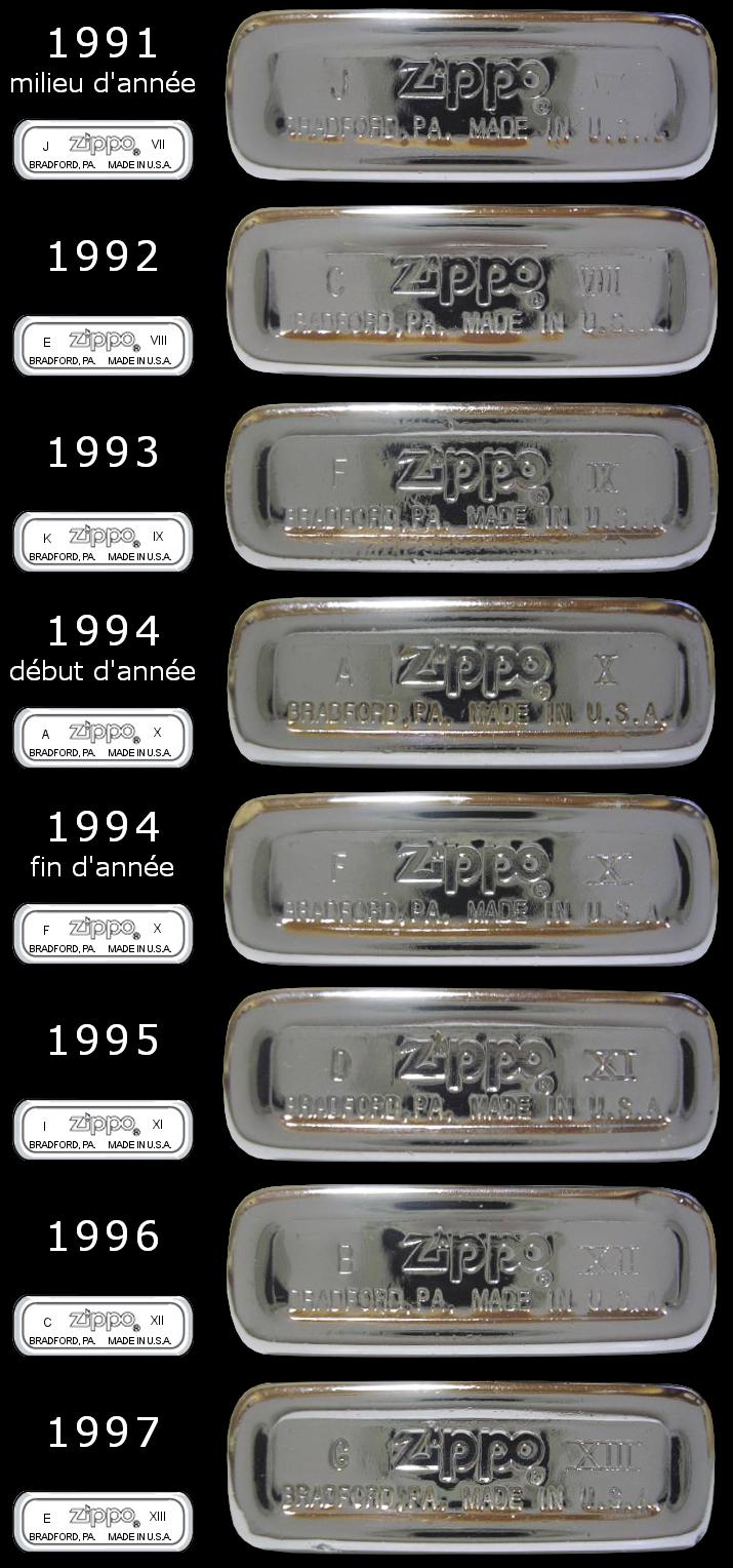 Datation - [Datation] Les Zippo Slim 1991-1997-525cab4