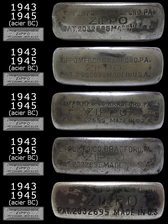 Datation - [Datation] Les Zippo Regular Regular-1943-1945-5266dc1
