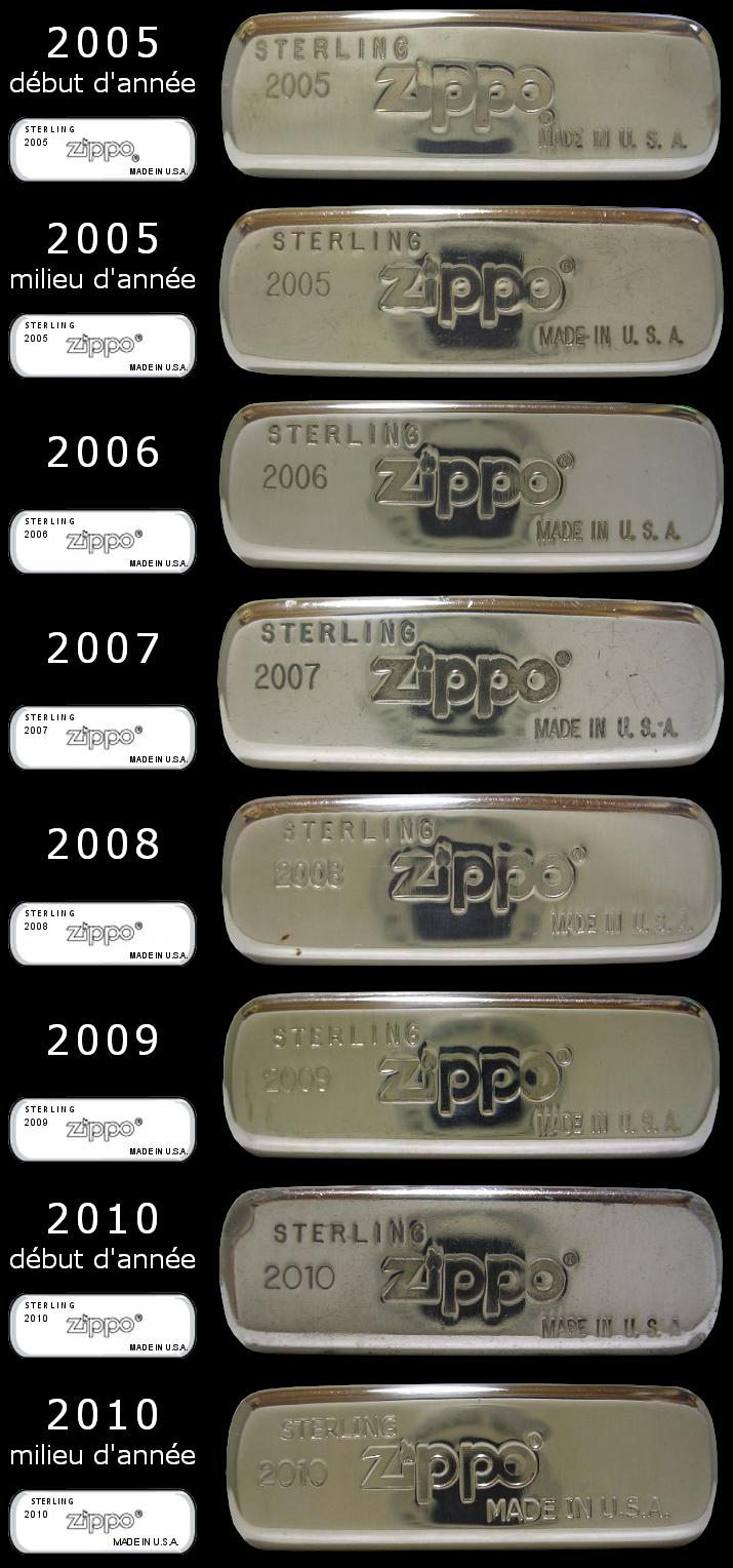 Datation - [Datation] Les Zippo Sterling Silver Bottom-2005-2010-523c182