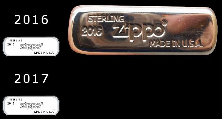 [Datation] Les Zippo Sterling Silver Bottom-2016-2017-523c3cb