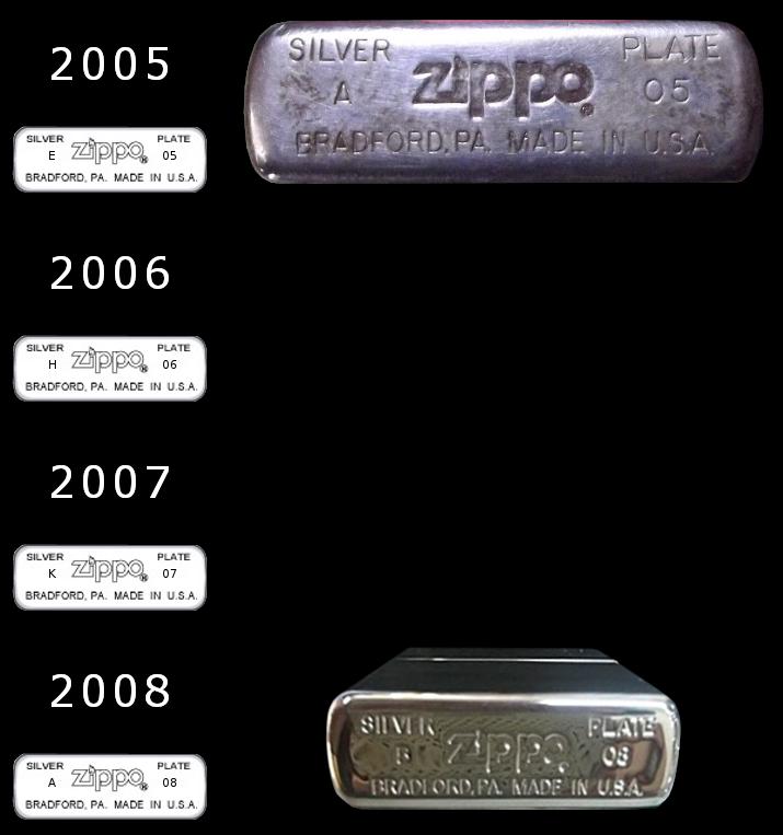 Datation - [Datation] Les Zippo Sterling Silver 2005-2008-52427b6