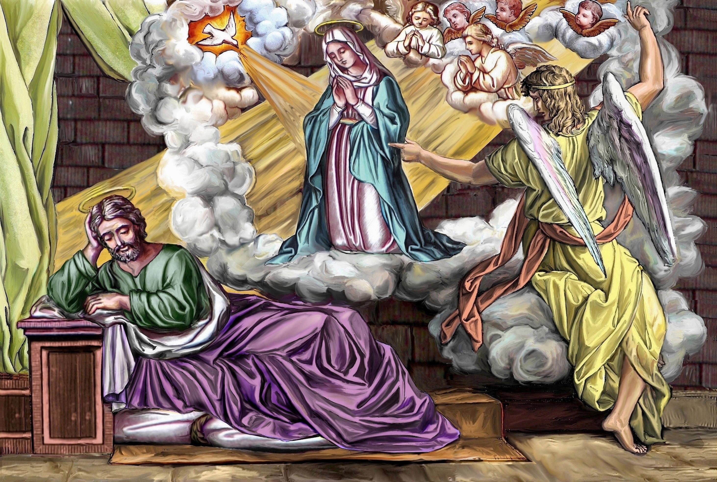 CALENDRIER CATHOLIQUE 2019 (Cantiques, Prières & Images) - Page 18 Le-songe-de-st-joseph-558778e