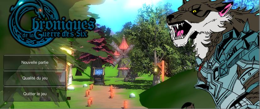 Chroniques de la guerre des Six Unity 3D (Reprise Lente) Titre-530b15e