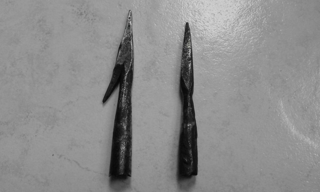 Pointes de flèches de la bataille de Castillon (1453). 20160810_151043-501cf4e