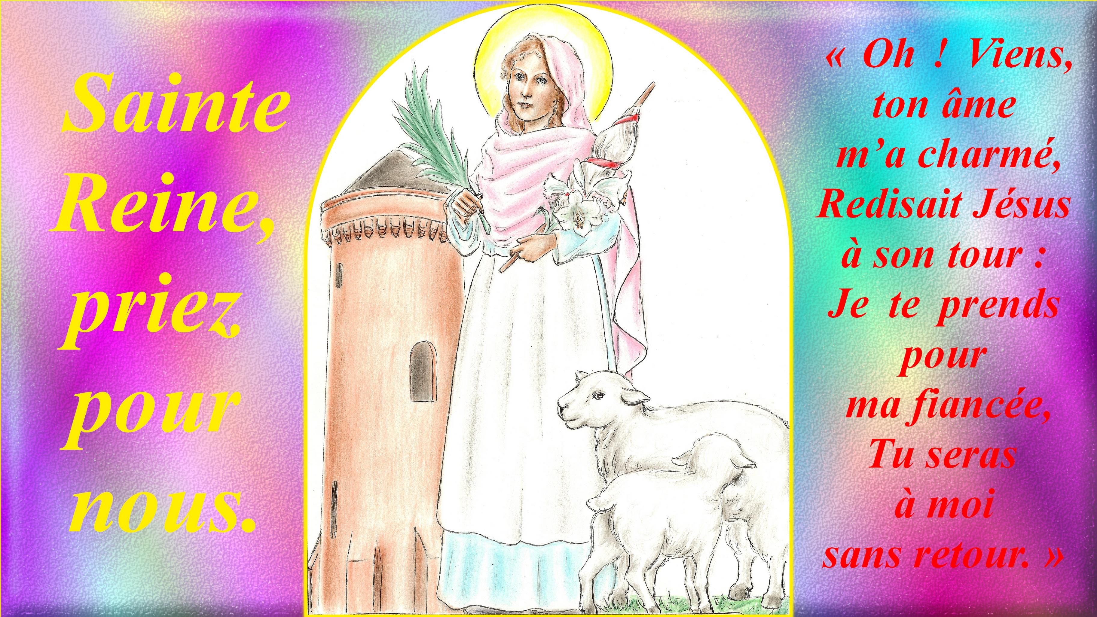 CALENDRIER CATHOLIQUE 2019 (Cantiques, Prières & Images) - Page 8 Ste-reine-568ae85