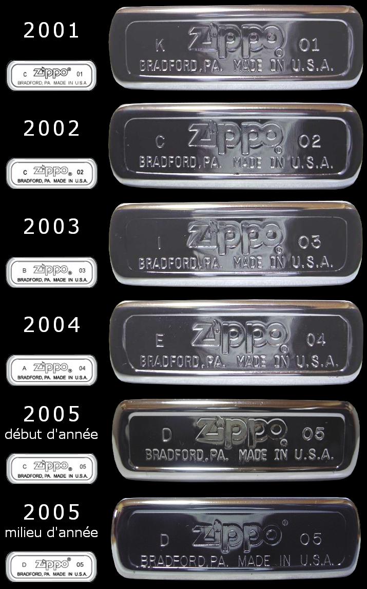 Datation - [Datation] Les Zippo Regular Regular-2001-2005-52670e3