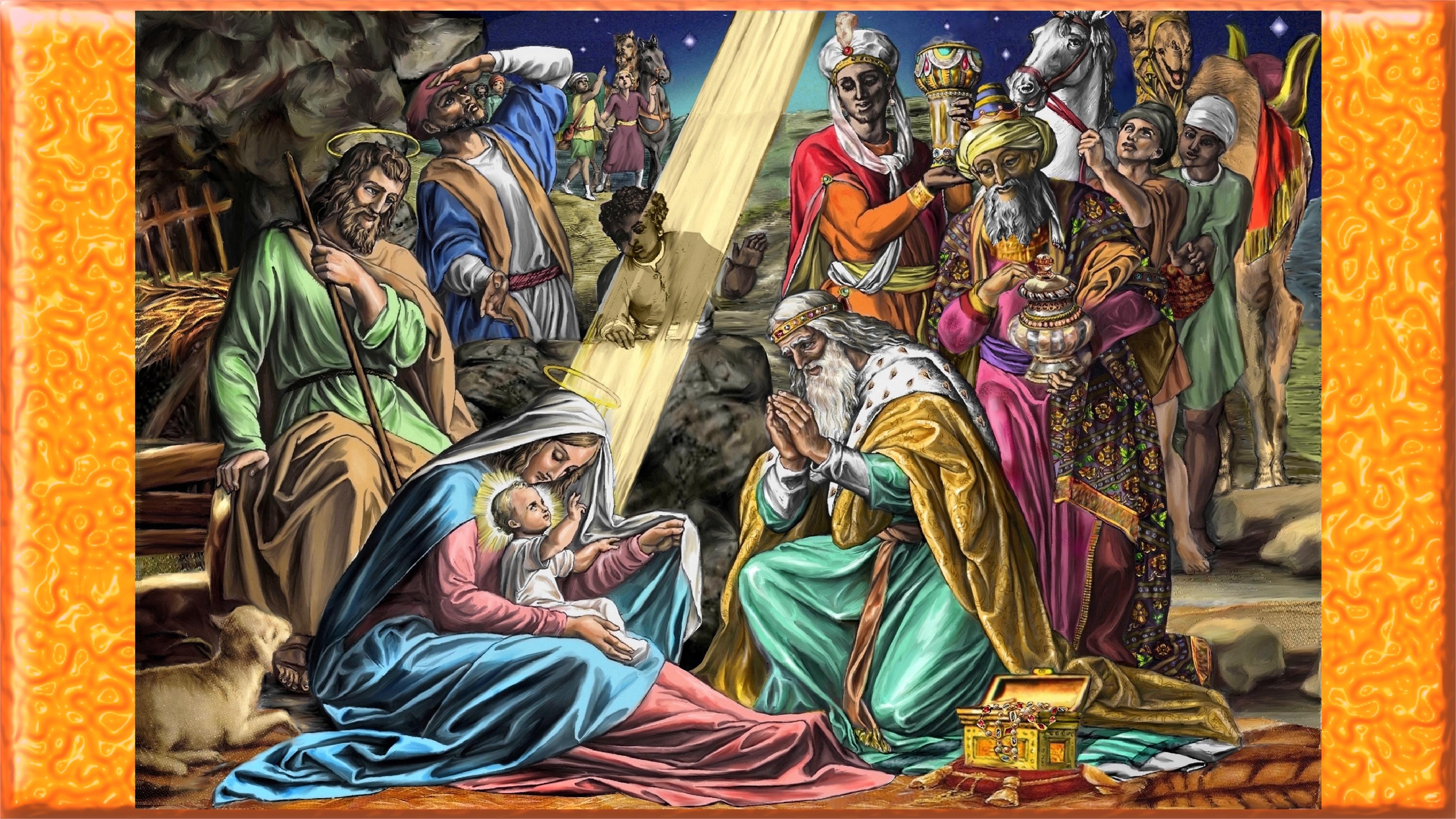 CALENDRIER CATHOLIQUE 2020 (Cantiques, Prières & Images) - Page 2 Adoration-des-rois-5594792