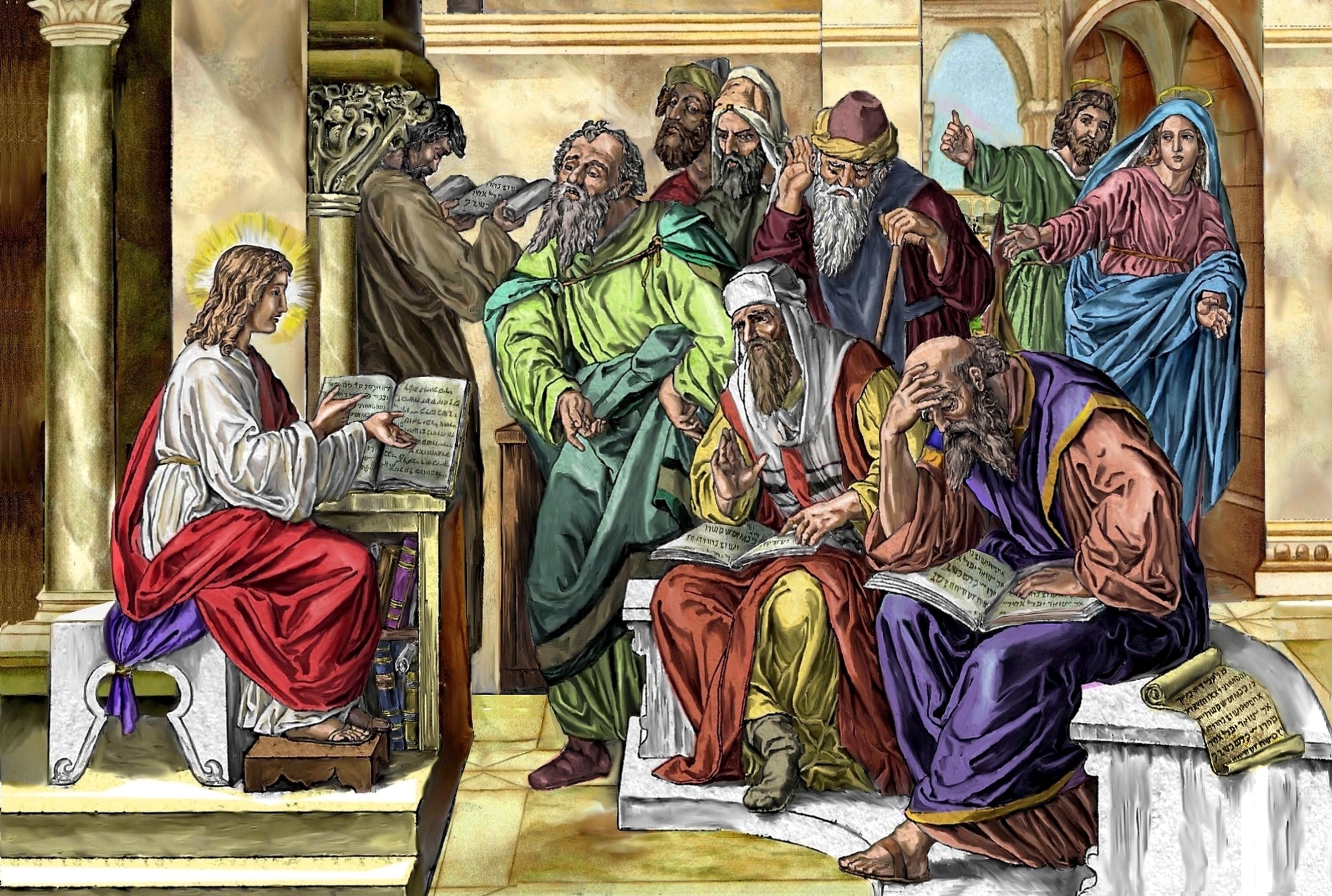 Le MOIS de SAINT JOSEPH par le R.P. Pedini (1854) - Page 3 J-sus-au-milieu-des-docteurs-55d69ab