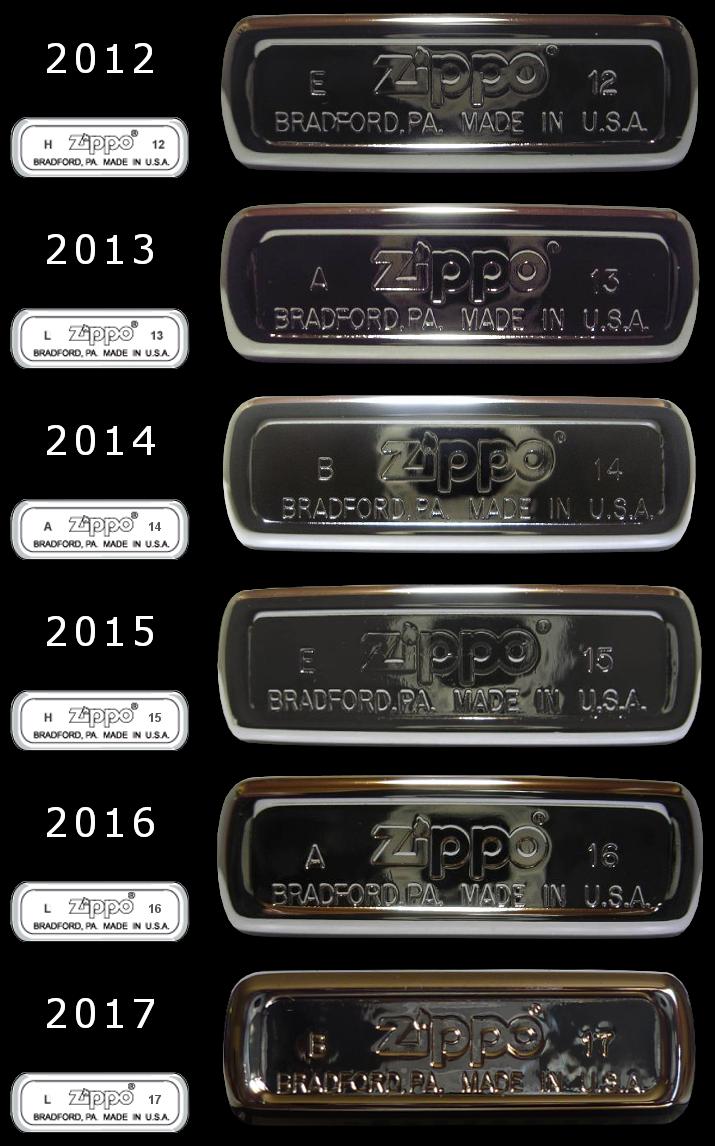 Datation - [Datation] Les Zippo Regular Regular-2012-2017-52670eb