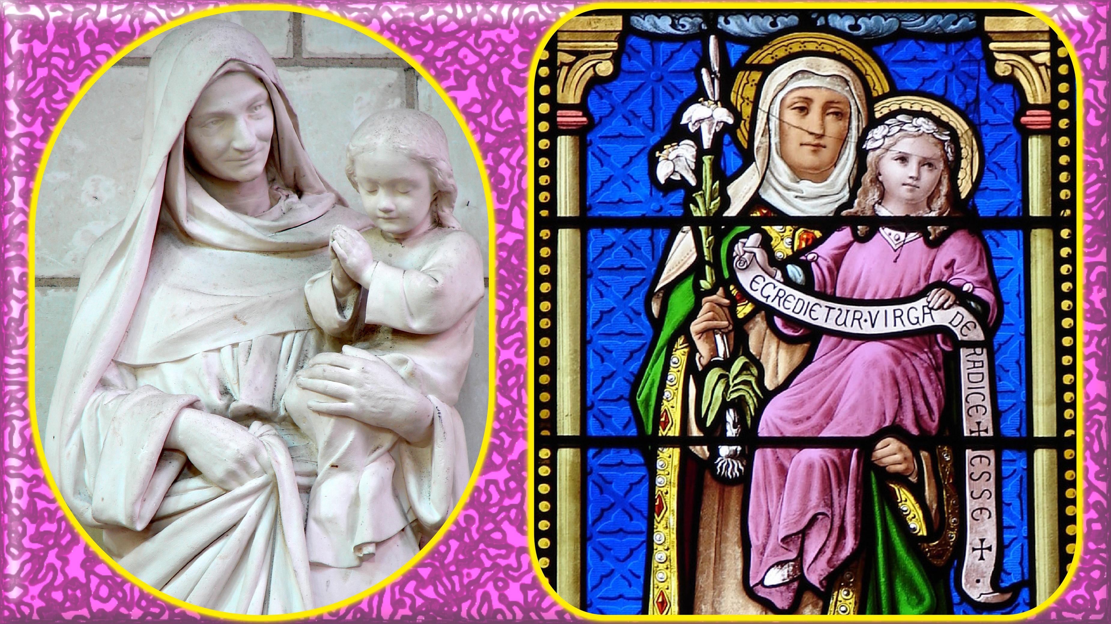 CALENDRIER CATHOLIQUE 2019 (Cantiques, Prières & Images) - Page 3 Ste-anne-marie-enfant-5664c0d