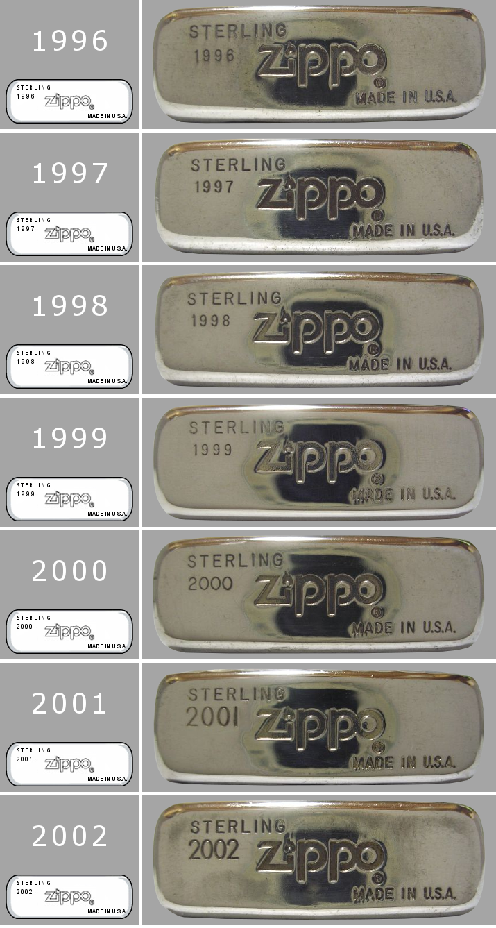 [Datation] Les Zippo Sterling Silver 1996-2002-523d006