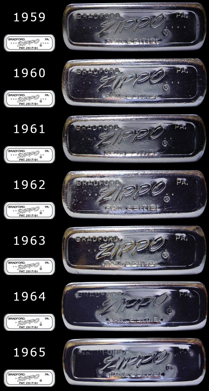 Datation - [Datation] Les Zippo Regular Regular-1959-1965-5266f3b