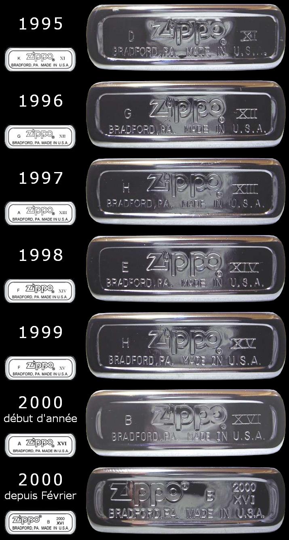 Datation - [Datation] Les Zippo Regular Regular-1995-2000-526701b