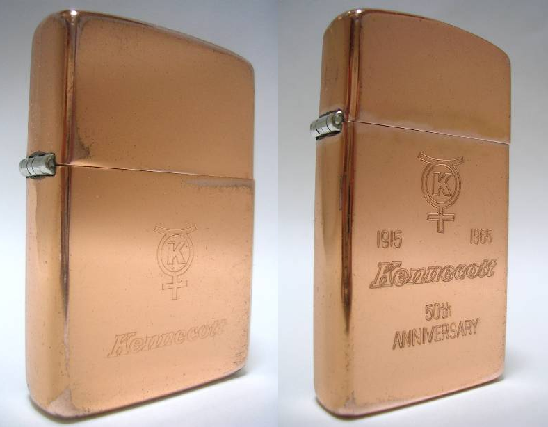 Datation - [Datation] Les Zippo Solid Copper Kennecott-52406cf