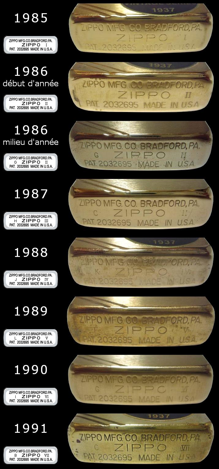 Datation - [Datation] Les Zippo 1937 Replica 1985-1991-52458a8