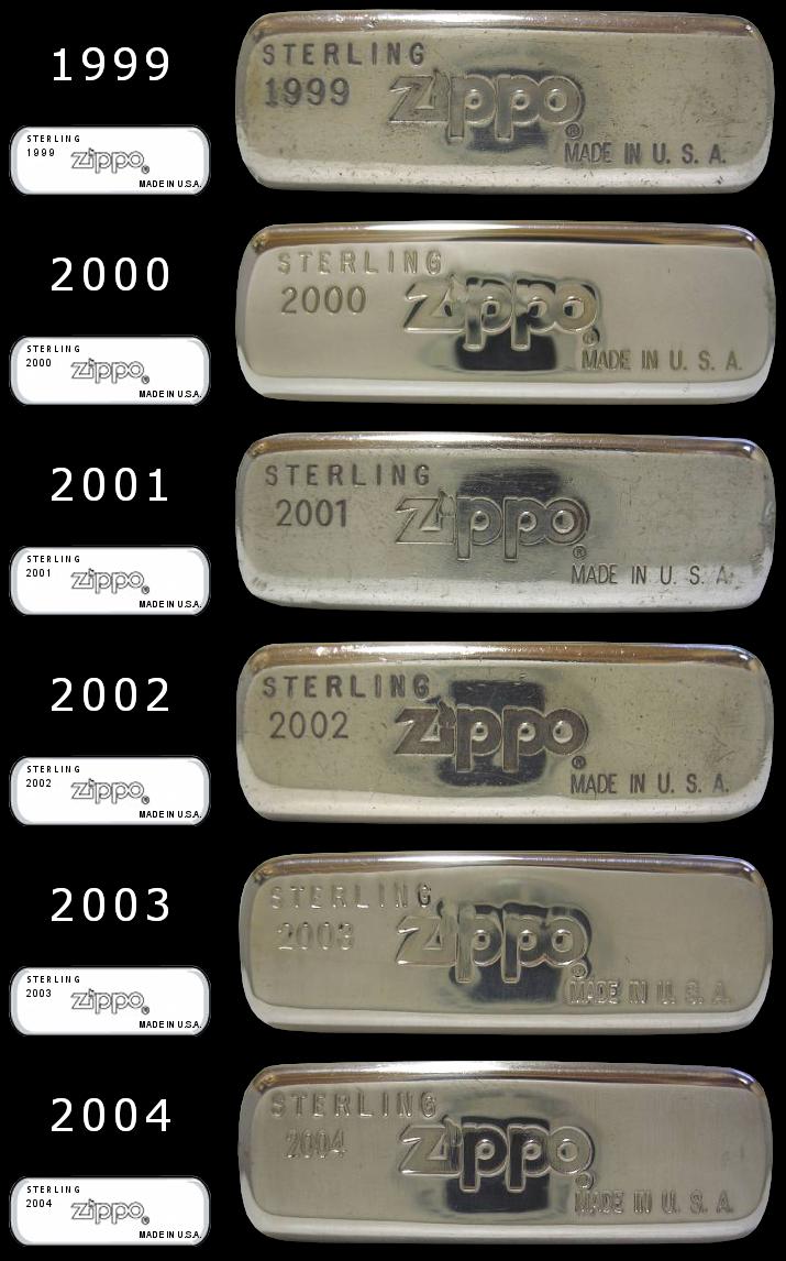 Datation - [Datation] Les Zippo Sterling Silver Bottom-1999-2004-523c17e