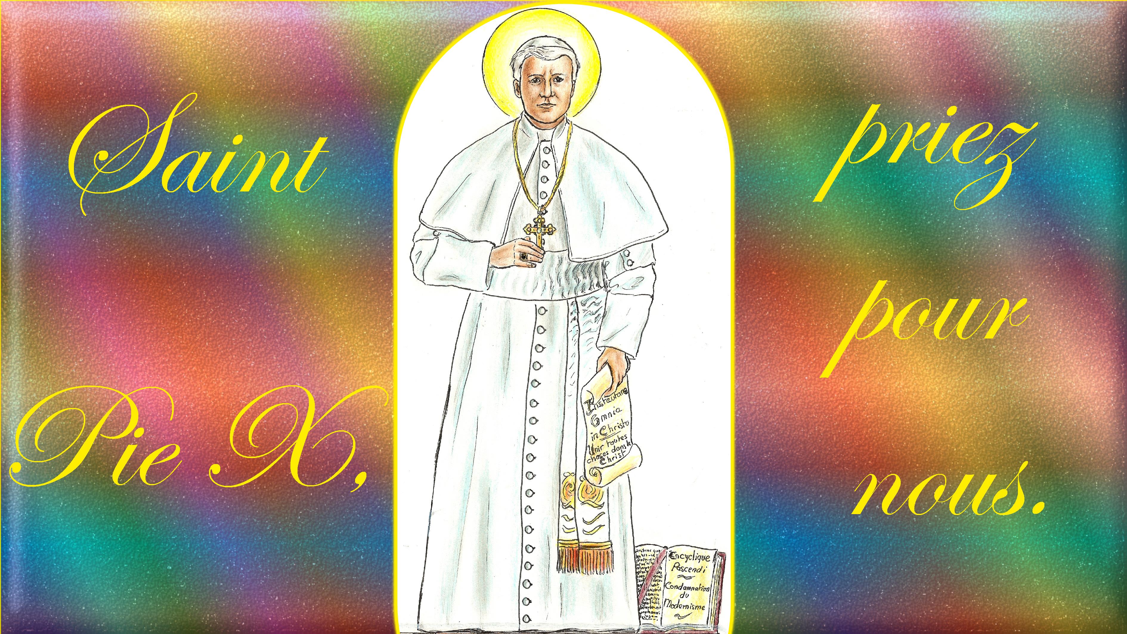 CALENDRIER CATHOLIQUE 2019 (Cantiques, Prières & Images) - Page 8 St-pie-x-55ac5ec