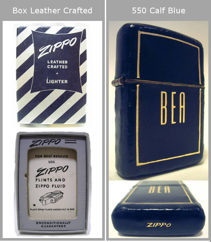 Datation - [Datation] Les Zippo Leather Crafted (Cuir) 1950-1951-1--525f385