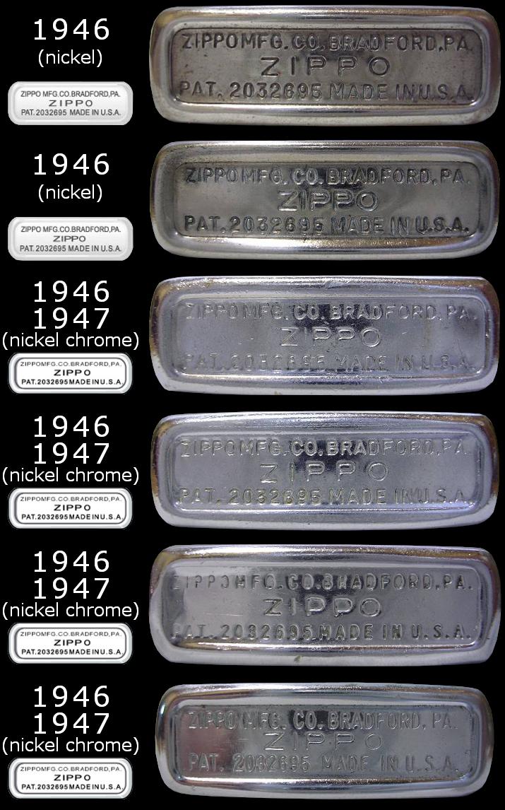 Datation - [Datation] Les Zippo Regular Regular-1946-1947-5266e6b