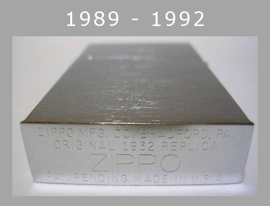 Datation - [Datation] Les Zippo 1932-1933 Replica 1989---1992-523a893