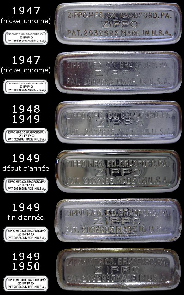 Datation - [Datation] Les Zippo Regular Regular-1947-1950-5266e6f
