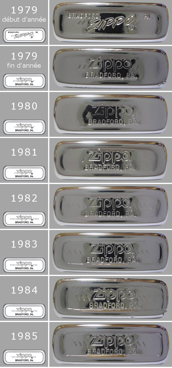 Datation - [Datation] Les Zippo Slim 1979-1985-525caae