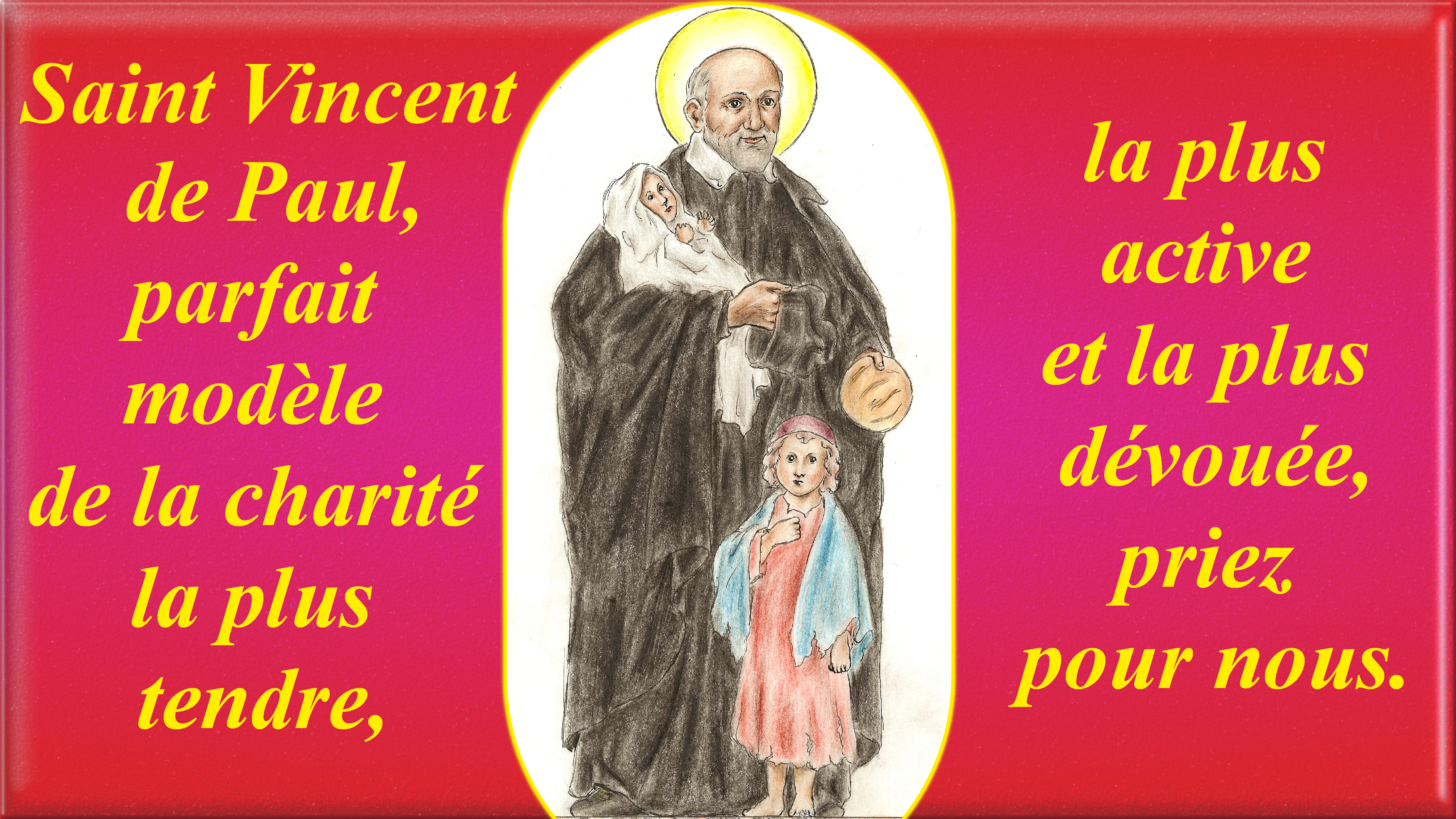 CALENDRIER CATHOLIQUE 2019 (Cantiques, Prières & Images) - Page 3 St-vincent-de-paul-5663787
