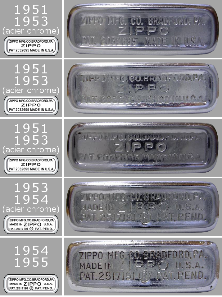Datation - [Datation] Les Zippo Regular Regular-1951-1955-5266ed0