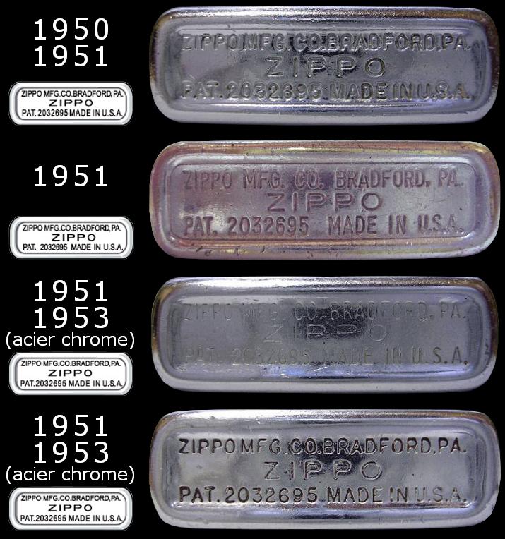 Datation - [Datation] Les Zippo Regular Regular-1950-1953-5267109
