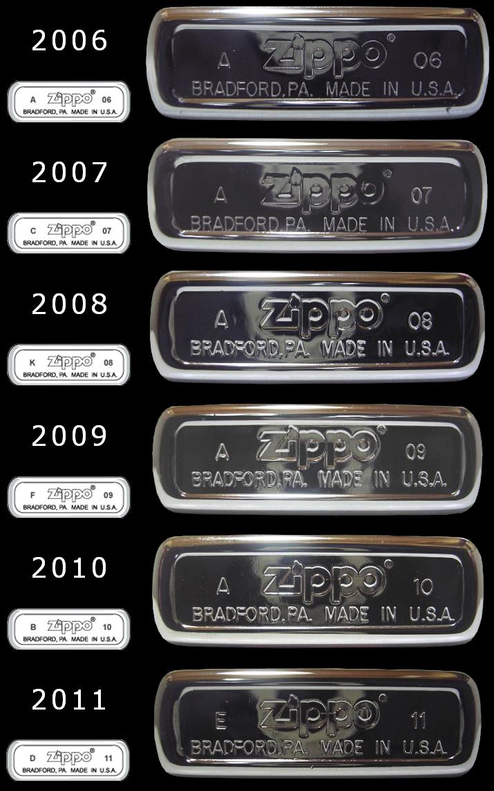 Datation - [Datation] Les Zippo Regular Regular-2006-2011-52670f6