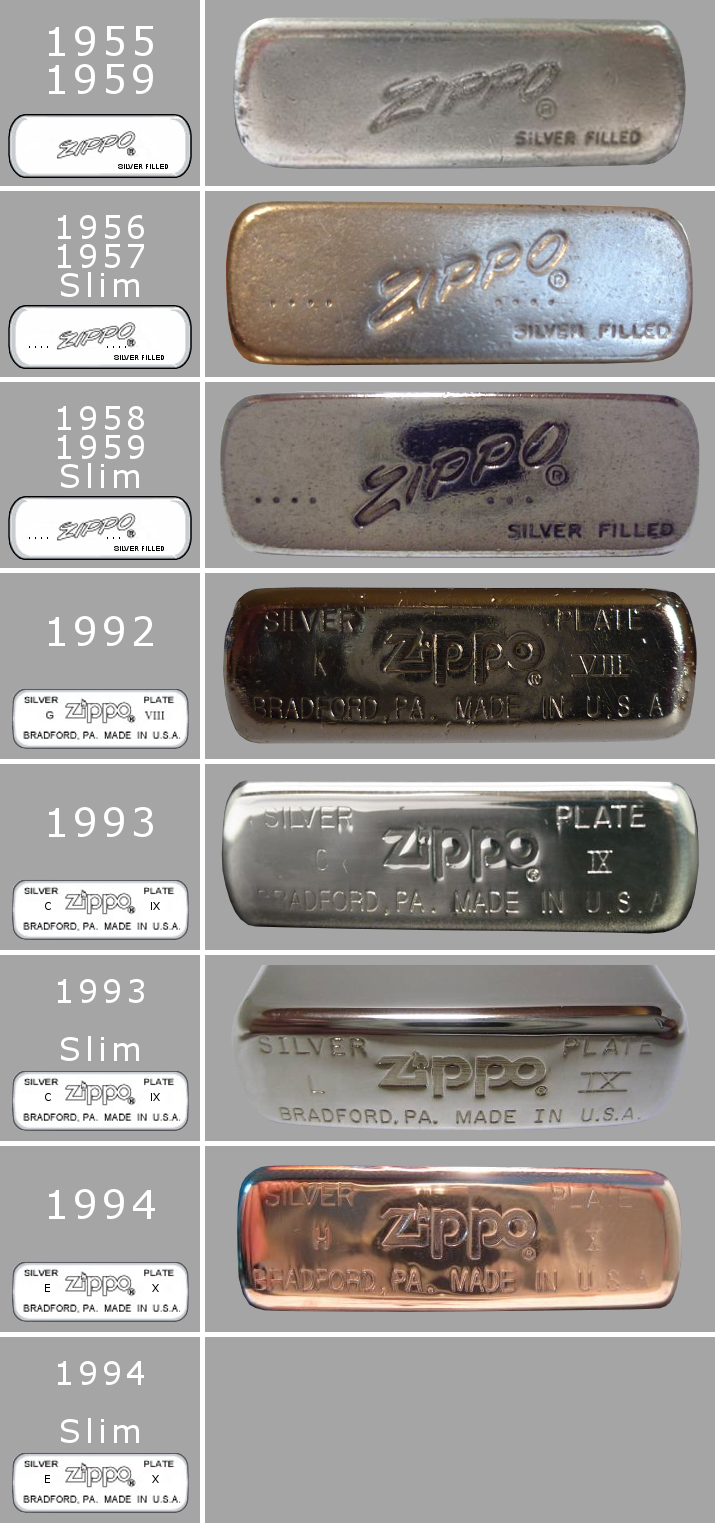 [Datation] Les Zippo Sterling Silver 1955-1994-52427b0
