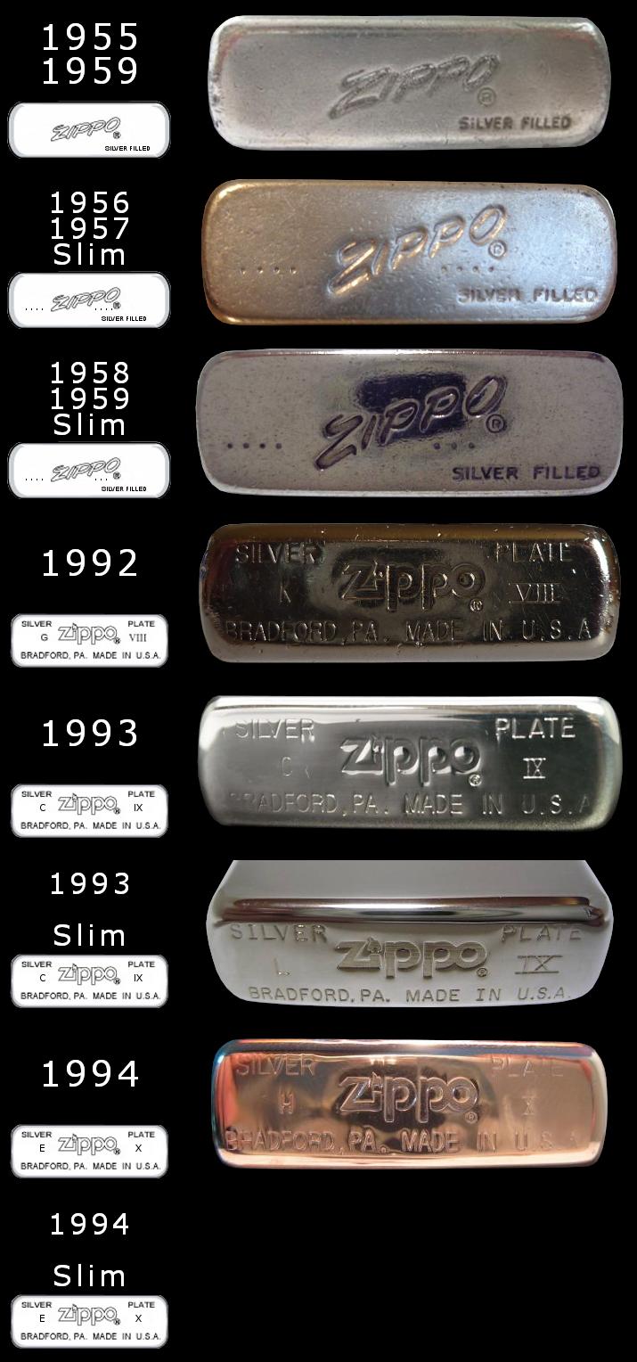 Datation - [Datation] Les Zippo Sterling Silver 1955-1994-52427b0