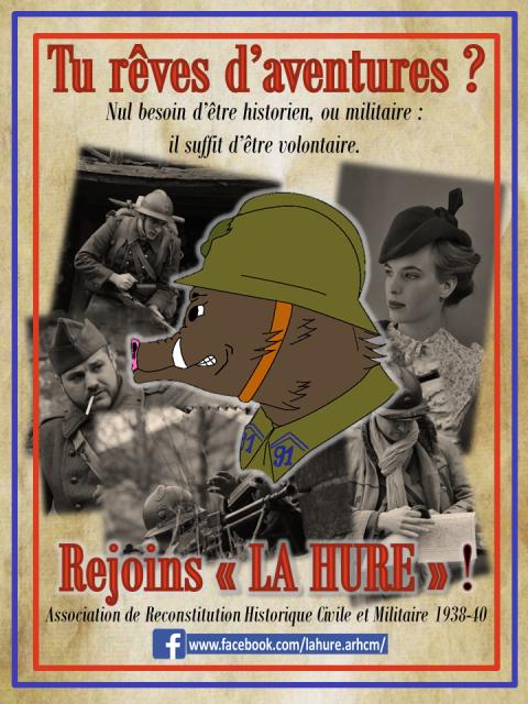 La Hure, Reconstitution Historique Civile et Militaire 1938/40 Reccrutement-la-hure-4f3a28b