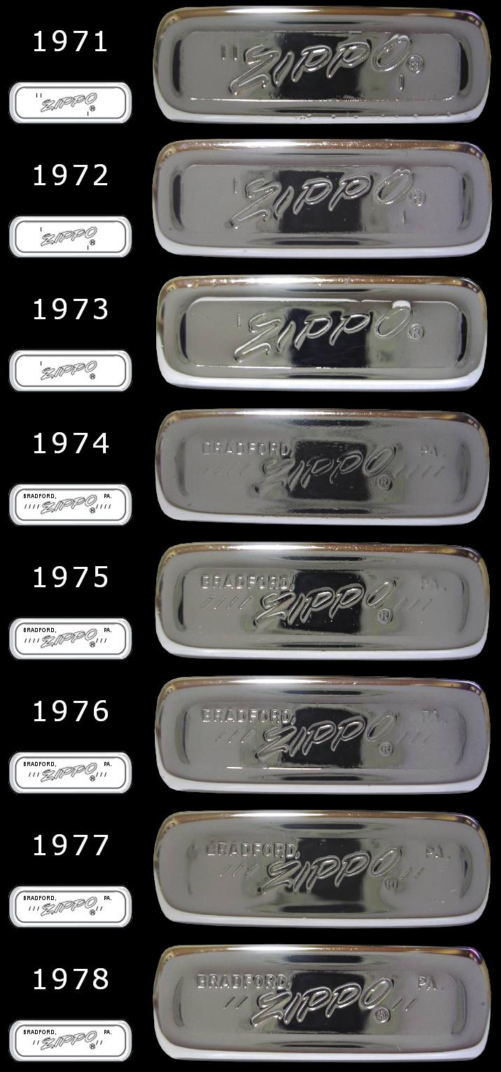Datation - [Datation] Les Zippo Slim 1971-1978-525caac