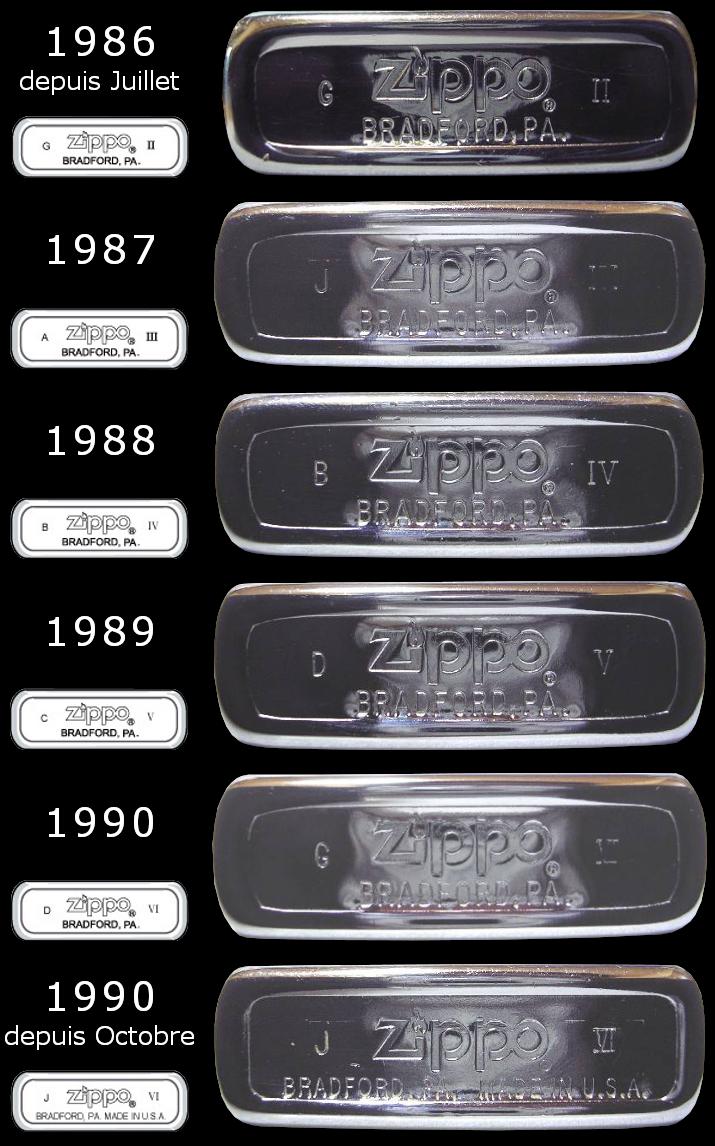 Datation - [Datation] Les Zippo Regular Regular-1986-1990-5267013