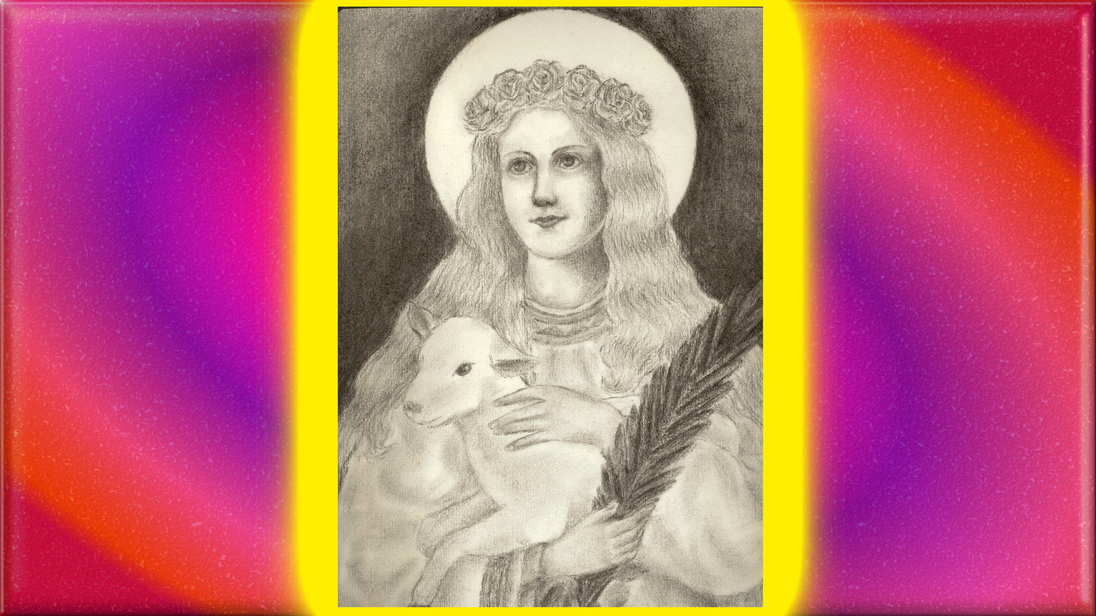 CALENDRIER CATHOLIQUE 2020 (Cantiques, Prières & Images) - Page 3 Sainte-agn-s-55adfbd