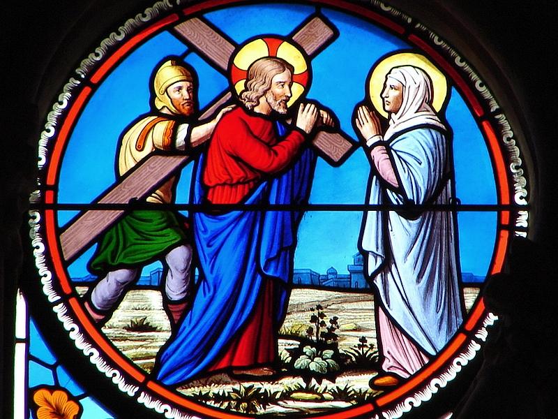 Le ROSAIRE CHANTÉ  - Page 2 09--le-portement-de-croix-55be32a