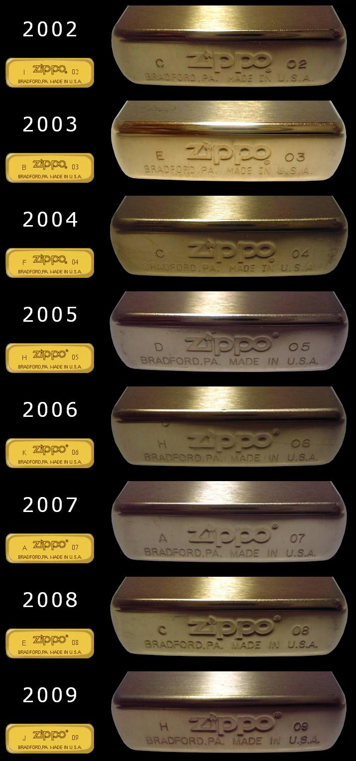 Datation - [Datation] Les Zippo Solid Brass Regular-2002-2009-524a48f