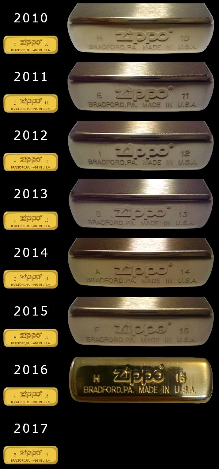 Datation - [Datation] Les Zippo Solid Brass Regular-2010-2017-524a491