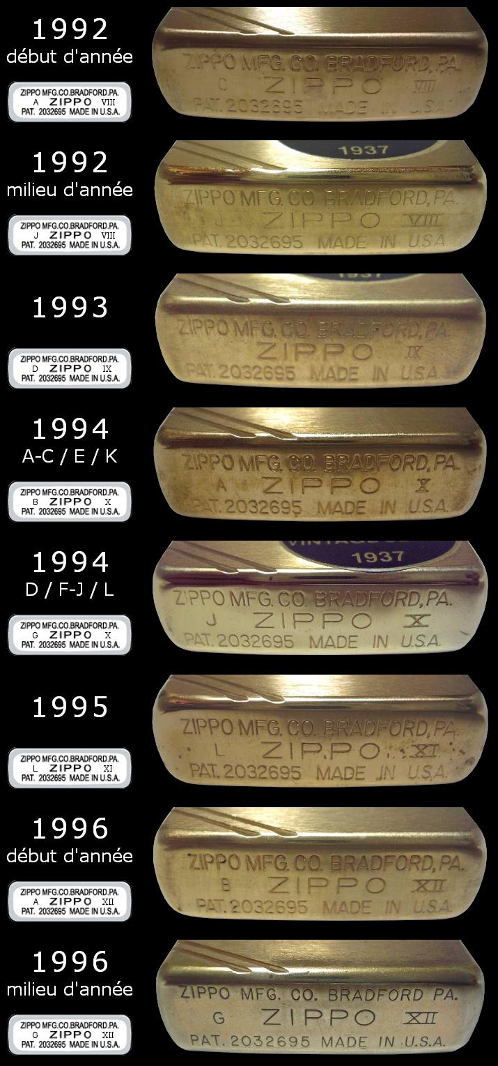 Datation - [Datation] Les Zippo 1937 Replica 1992-1996-52458b2