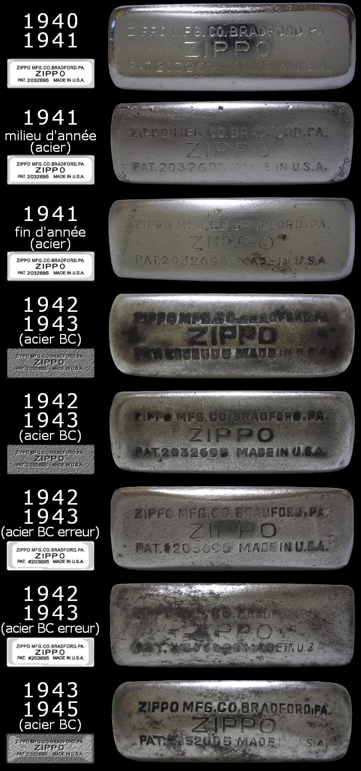 Datation - [Datation] Les Zippo Regular Regular-1940-1945-5266db9